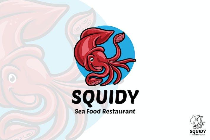 Thumbnail for Squid Sea Food Restaurant Logo Mascot