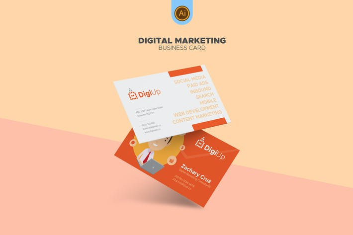 Thumbnail for Digital Marketing Business Card 03