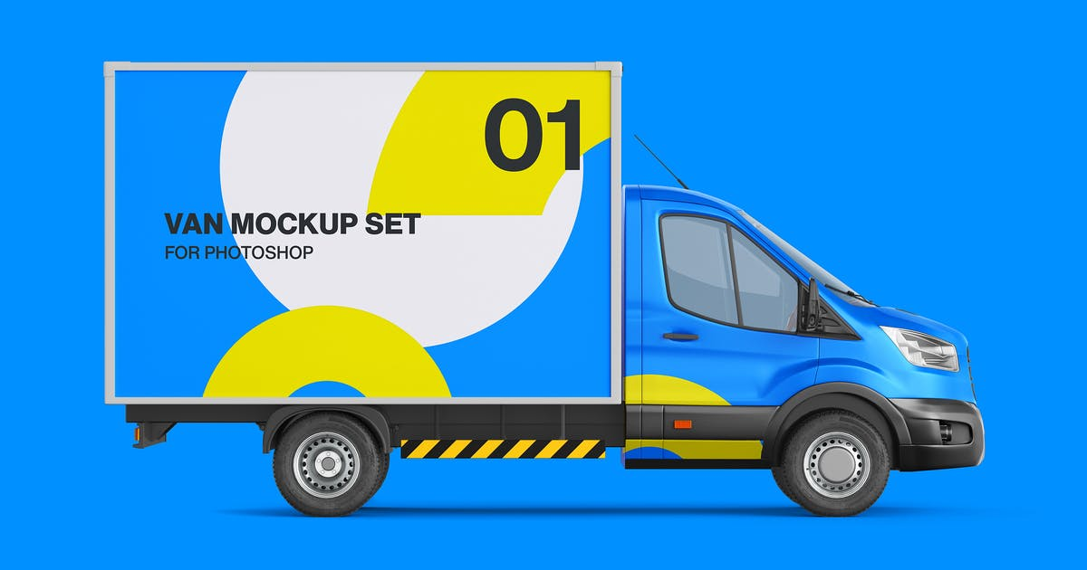 Download Cube Van Mockup 02 - Left and Right Side View by Ayashi