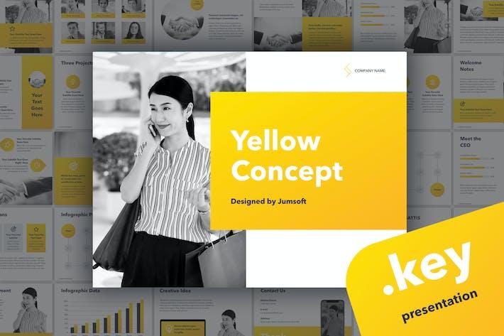 Thumbnail for Желтый шаблон ключевых заметок концепции