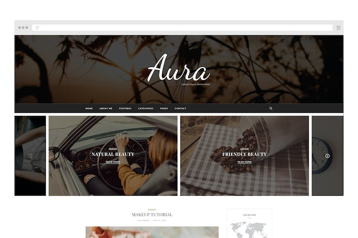 Thumbnail for Aura Personal Blog Template
