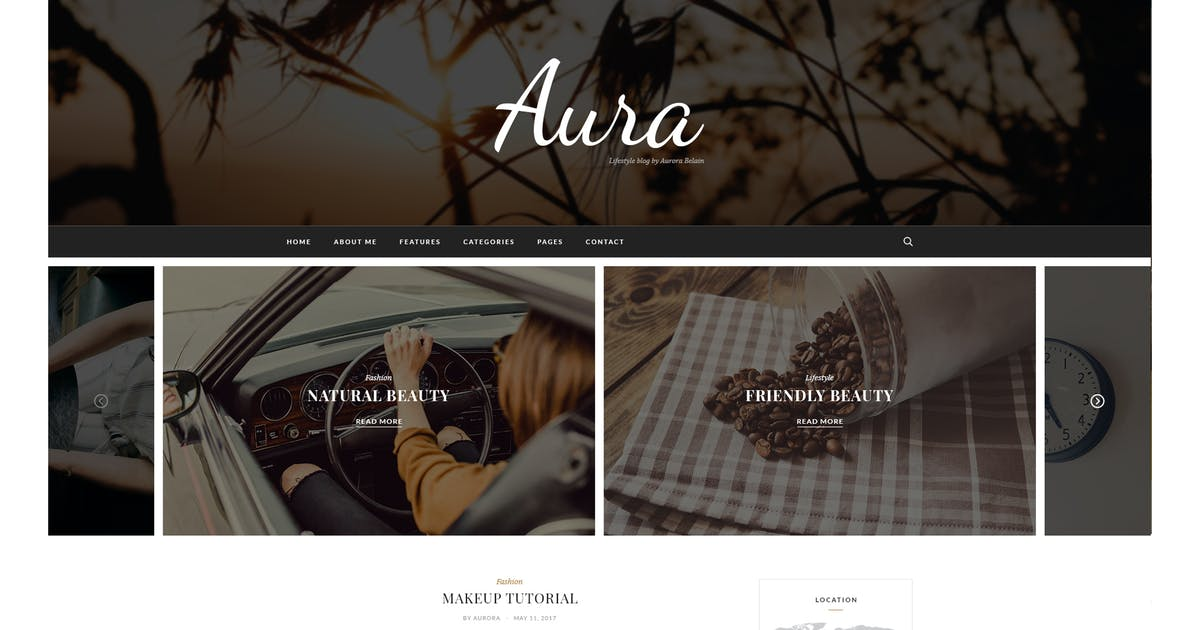 Download Aura Personal Blog Template by Jewel_Theme