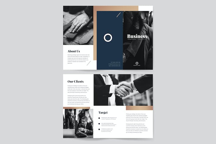 Thumbnail for Business presentation brochure template vector