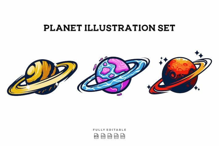 Planet Illustration Set