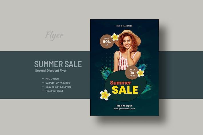 Summer Sale Seasonal Discount Flyer