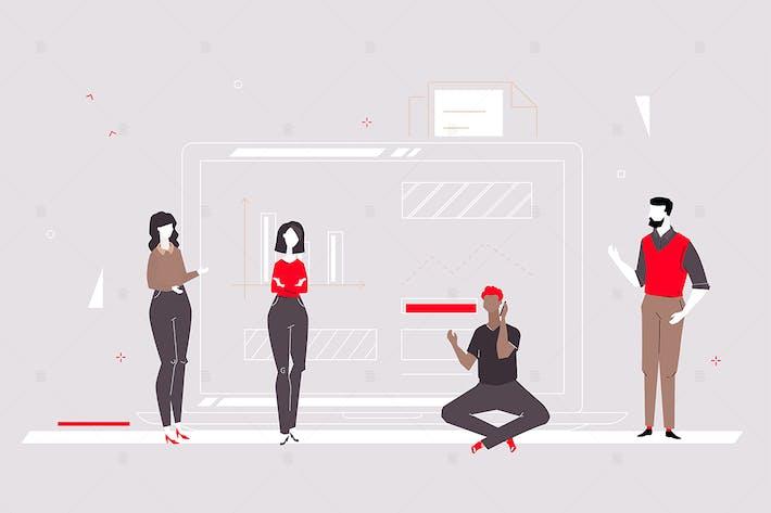 Thumbnail for Business Analyse - flache Design-Stil Illustration