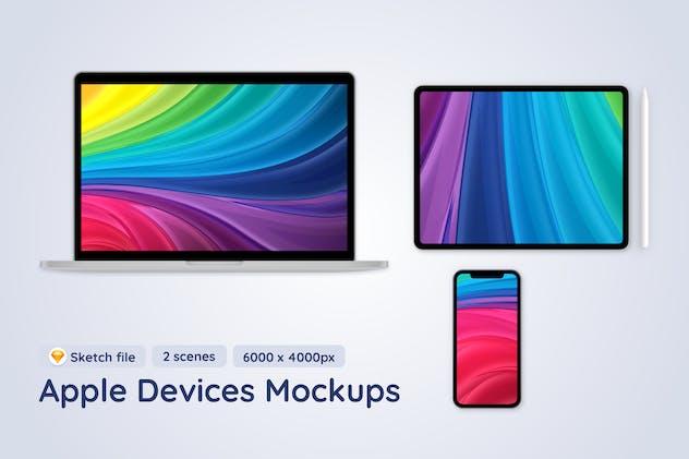 Apple Mobile Devices - 2 Sketch Mockups