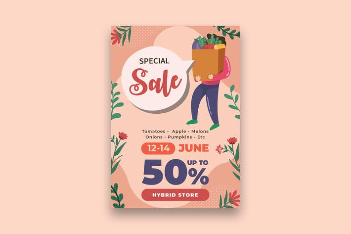 Thumbnail for Shopping Sale Poster