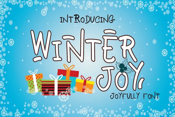 Thumbnail for Winter Joy - Joyfully Font