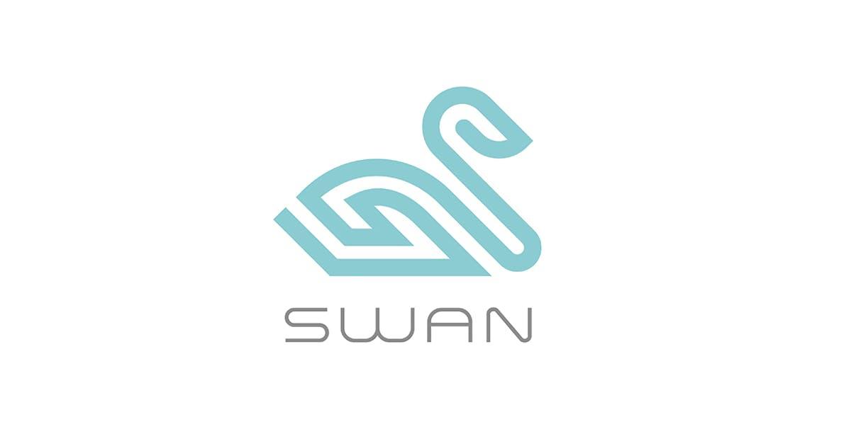 Swan bird Logo linear style by Sentavio