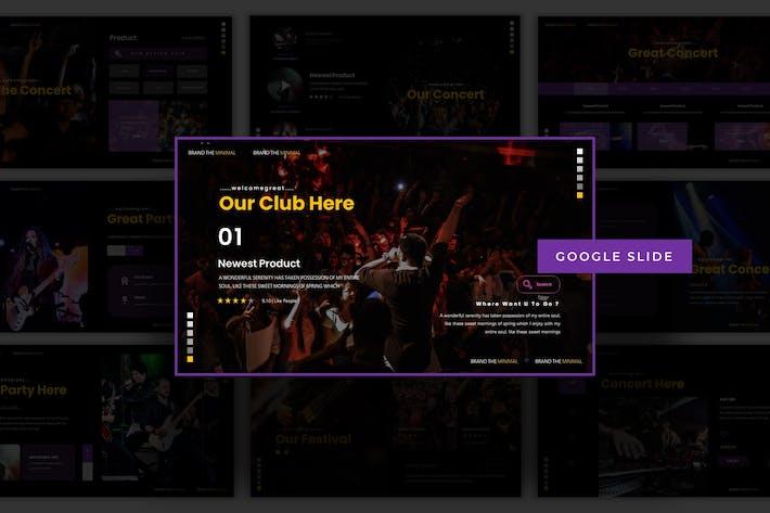 Праздничный концерт - Шаблон слайдов Google