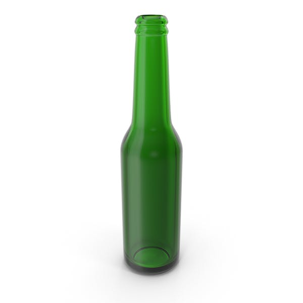Botella de Cerveza Verde Limpia