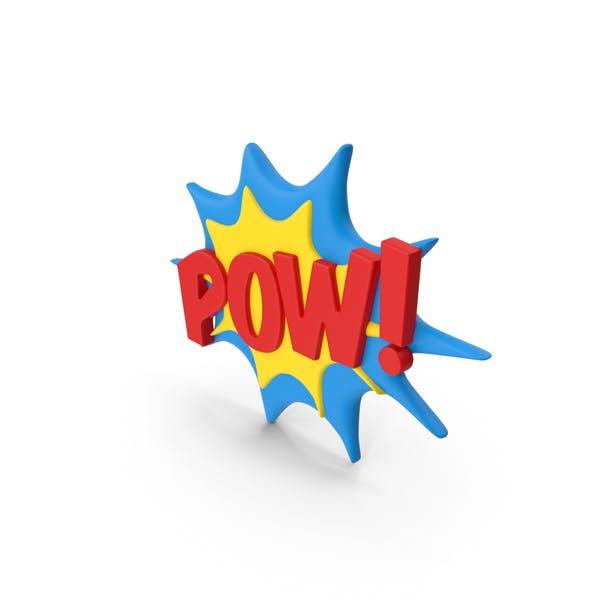 Superhero Comic Text Bubble POW!