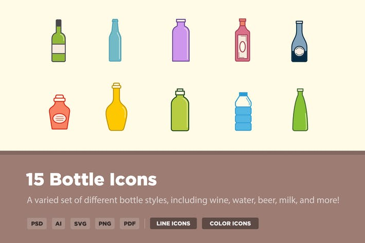 Thumbnail for 15 Bottle Icons