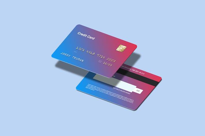 Thumbnail for Isometrische KreditkartenMock-ups