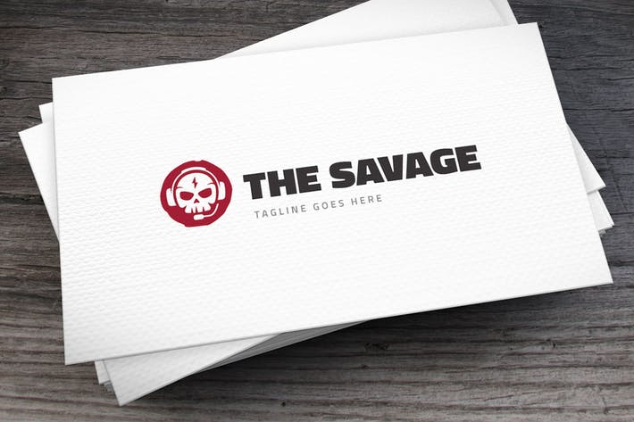 Cover Image For Savage Logo Template