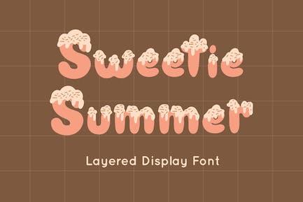 Sweetie Summer - Display Font