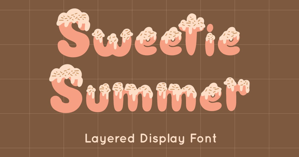 Download Sweetie Summer - Display Font by Attype-Studio
