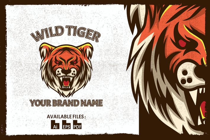 Thumbnail for Wild Tiger Vintage Badge Logo