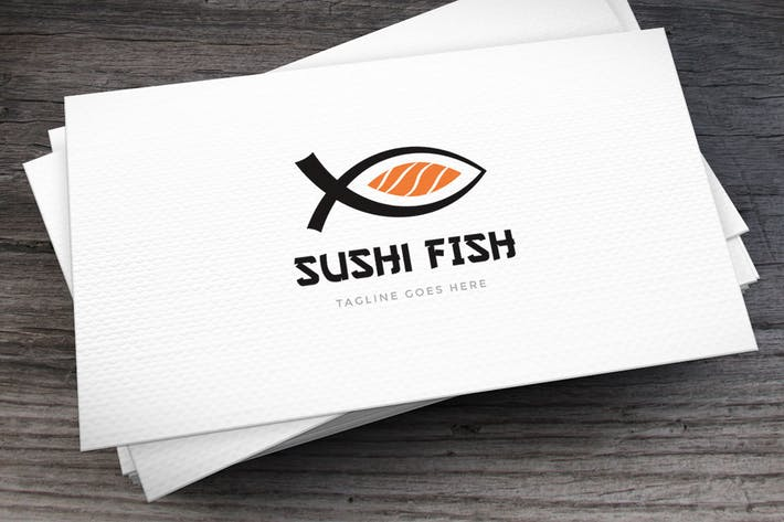 Thumbnail for Sushi Fish Logo Template