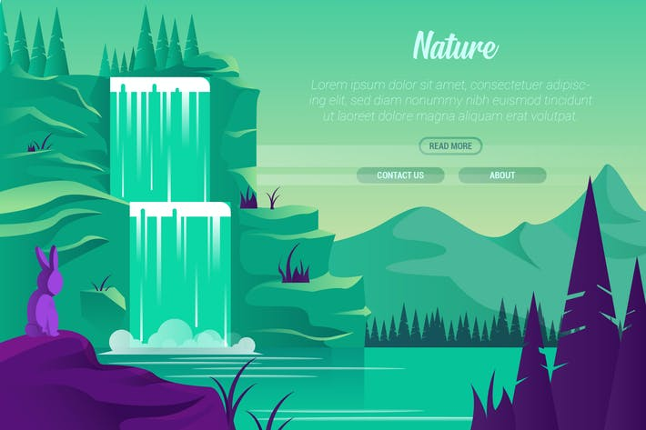 Cover Image For Nature - Vector Landscape & Building