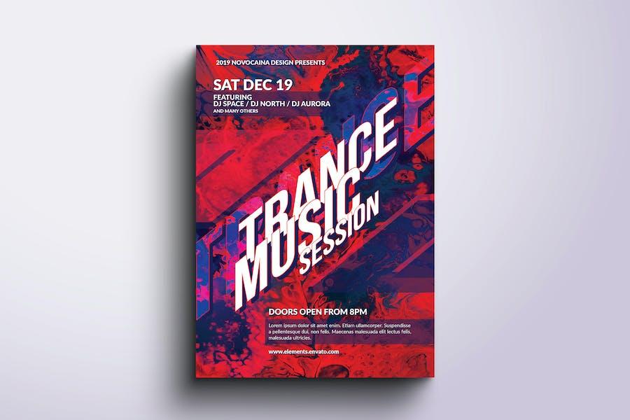 Trance Music Flyer V2
