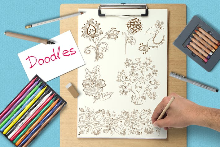 Cover Image For Set of Doodle Elements
