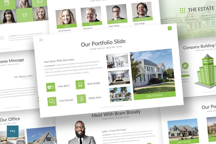 Thumbnail for The Estate - Keynote Template