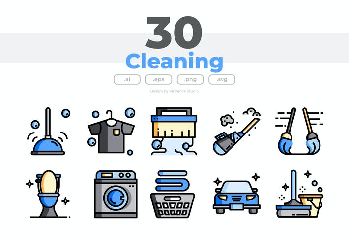 30 Cleaning Icons