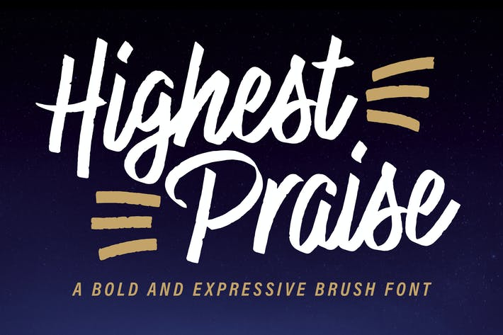 Thumbnail for Highest Praise Font