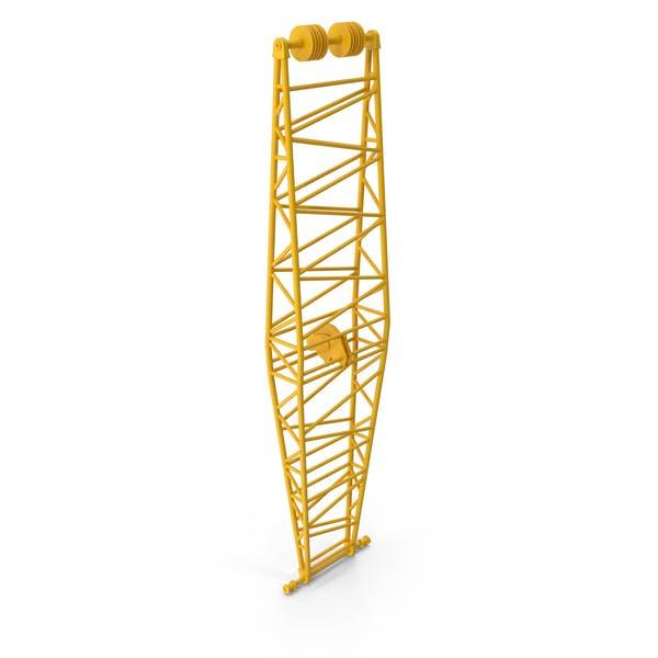 Crane Jib Mast Yellow