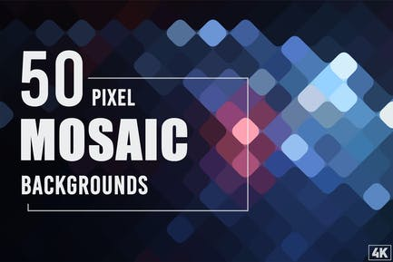 50 Pixel Mosaik-Hintergründe
