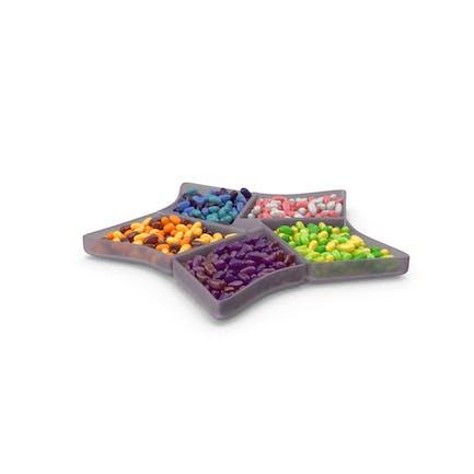 Sternfach Schüssel mit Jelly Beans