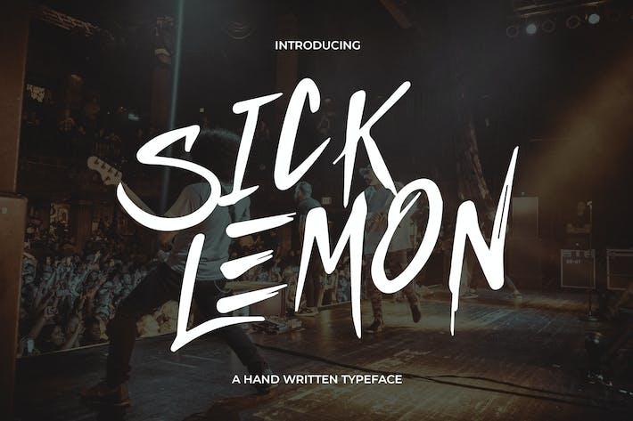 Thumbnail for Sick Lemon - Police écrite à la main
