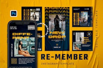 Re-Member - Hype Instagram Stories und Beitrag