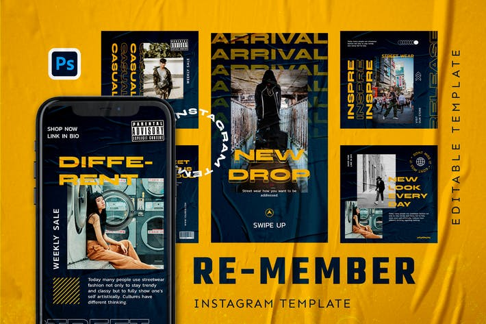 Re-member - Hype Instagram Stories and Post
