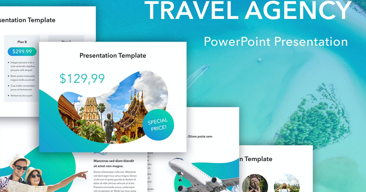 Download Travel Agency PowerPoint Template by Jumsoft