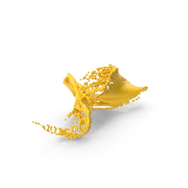 Yellow Liquid Splash Effect