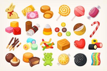 Süßigkeiten und Süßigkeiten