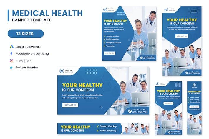 Medical Health Banner Set Template