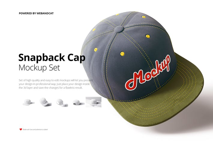 Thumbnail for Snapback Cap Mockup