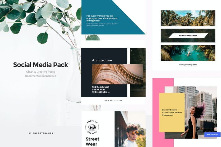 Thumbnail for Social Media Banners - Vol18