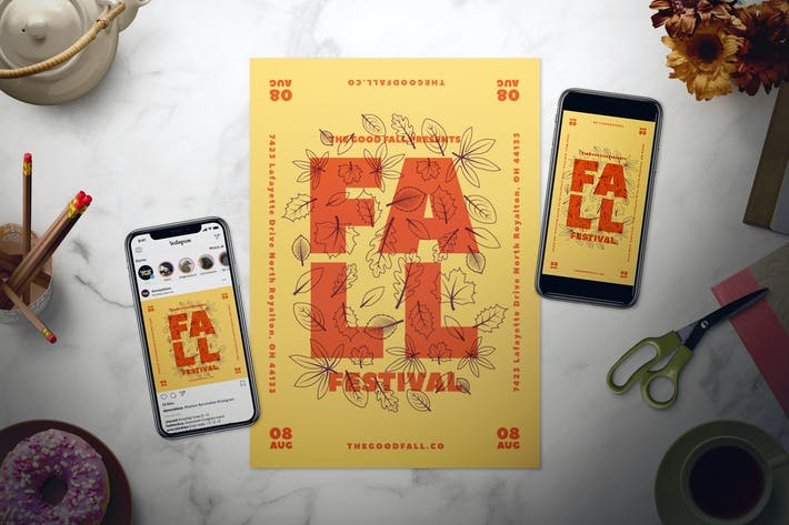 Thumbnail for Fall Event Flyer Set