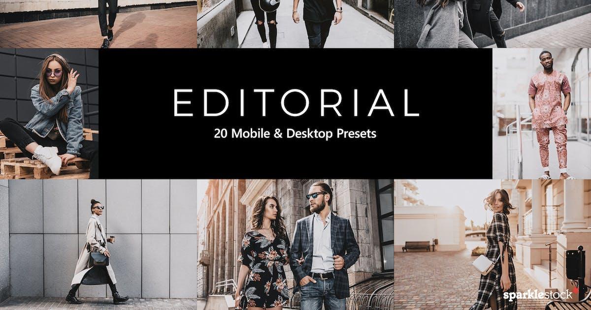 Download 20 Editorial Lightroom Presets & LUTs by sparklestock