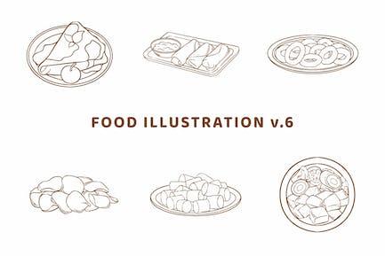 Food Illustration V.6 (Outline Version)