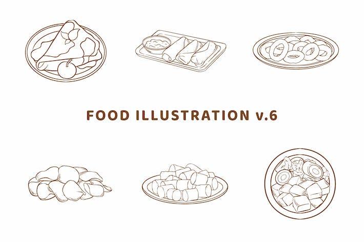 Thumbnail for Food Illustration V.6 (Outline Version)