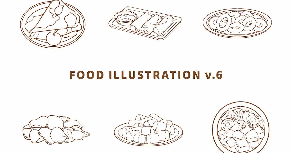 Download Food Illustration V.6 (Outline Version) by deemakdaksinas