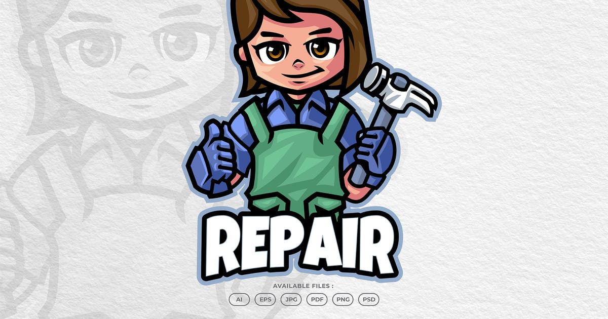 Download Service & Repair Cartoon Mascot Logo by yogaperdana7