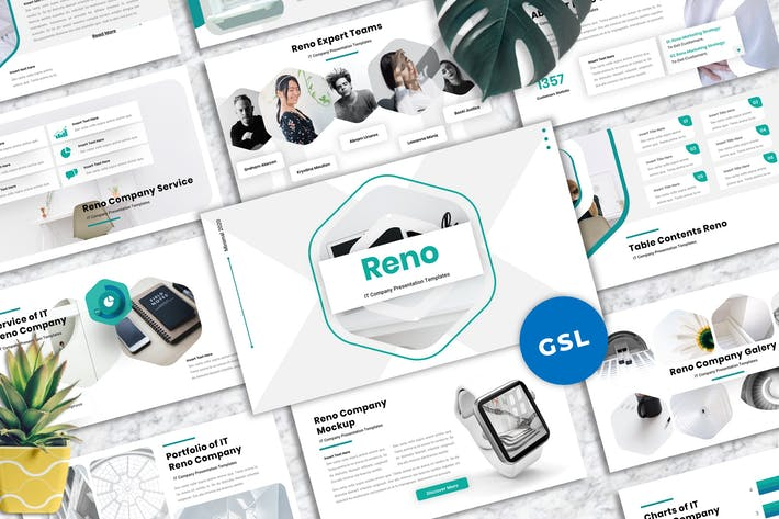 Thumbnail for Reno - IT Company Googleslide Templates