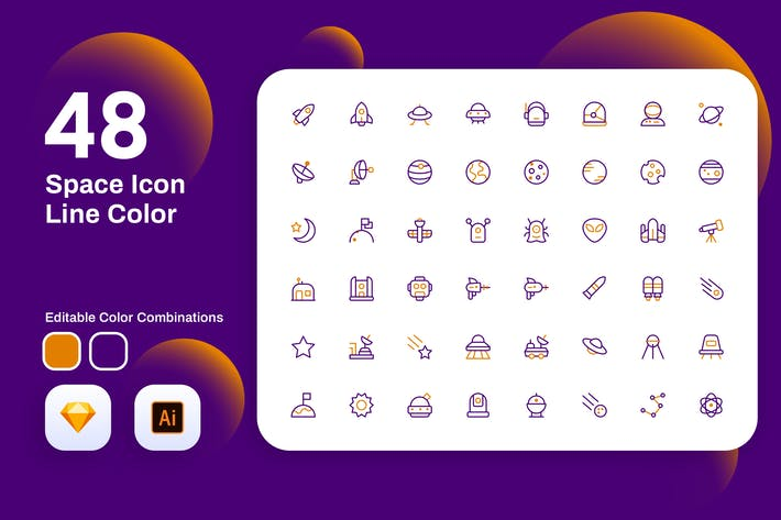 Thumbnail for Space Icon Line Color